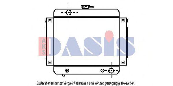 Радиатор, охлаждение двигателя AKS DASIS 120040N