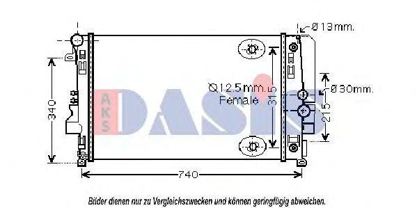 Радиатор, охлаждение двигателя AKS DASIS 120047N