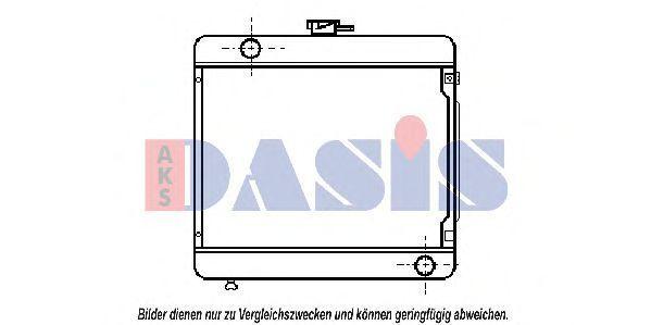 Радиатор, охлаждение двигателя AKS DASIS 120073N