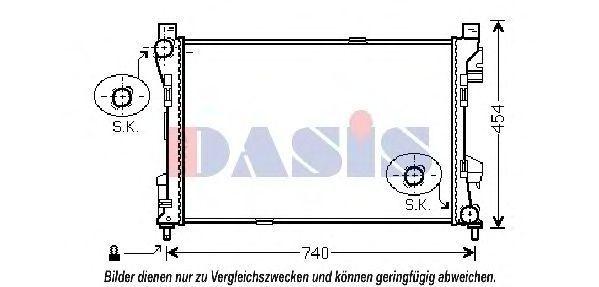 Радиатор, охлаждение двигателя AKS DASIS 120078N