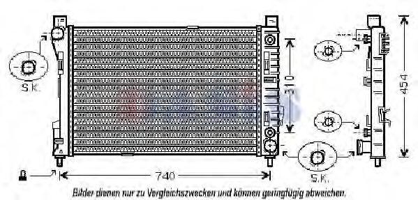 Радиатор, охлаждение двигателя AKS DASIS 120079N