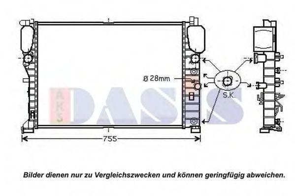 Радиатор, охлаждение двигателя AKS DASIS 120094N