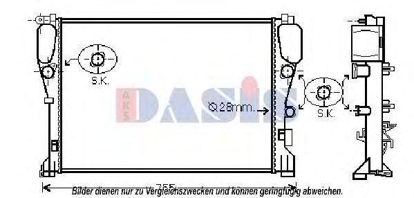 Радиатор, охлаждение двигателя AKS DASIS 120098N