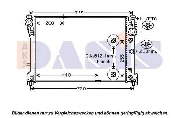 Радиатор, охлаждение двигателя AKS DASIS 120101N
