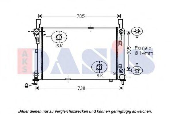 Радиатор, охлаждение двигателя AKS DASIS 120103N