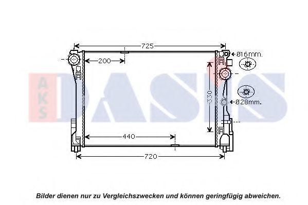 Радиатор, охлаждение двигателя AKS DASIS 120104N