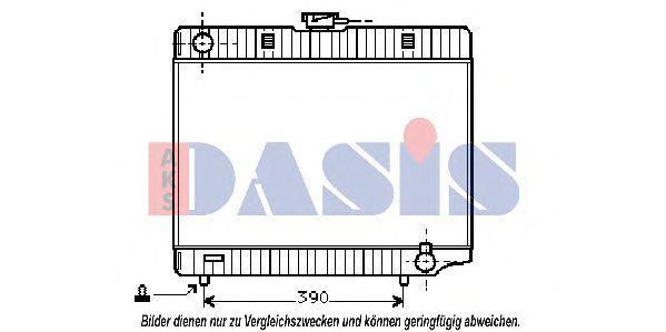 Радиатор, охлаждение двигателя AKS DASIS 120150N