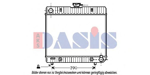 Радиатор, охлаждение двигателя AKS DASIS 120180N