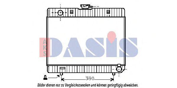Радиатор, охлаждение двигателя AKS DASIS 120270N