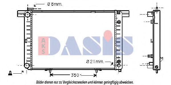 Радиатор, охлаждение двигателя AKS DASIS 120430N