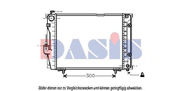 Радиатор, охлаждение двигателя AKS DASIS 120490N