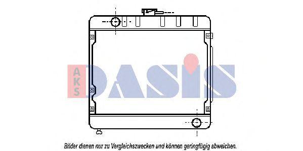 Радиатор, охлаждение двигателя AKS DASIS 120640N