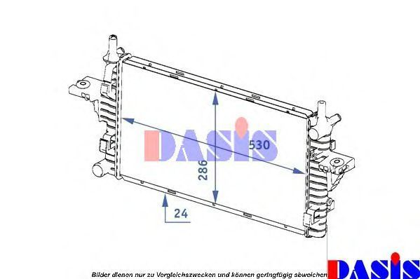 Радиатор, охлаждение двигателя AKS DASIS 121001N