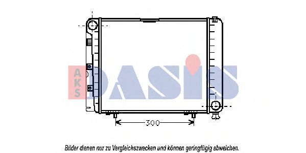 Радиатор, охлаждение двигателя AKS DASIS 121440N