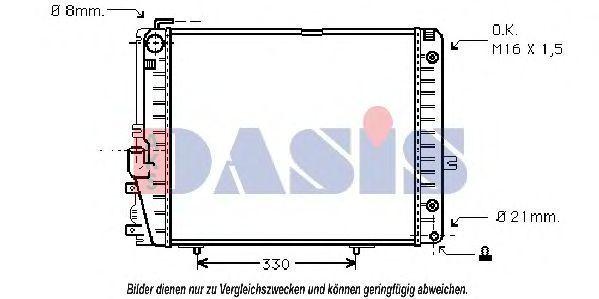 Радиатор, охлаждение двигателя AKS DASIS 121650N