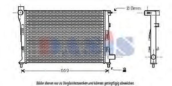 Радиатор, охлаждение двигателя AKS DASIS 121760N