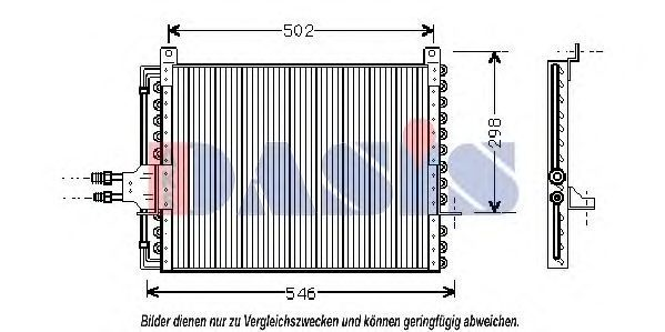 Конденсатор, кондиционер AKS DASIS 121840N