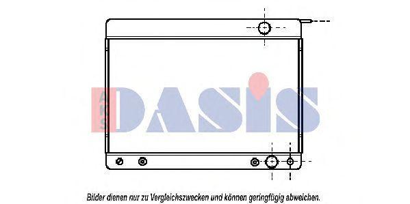 Радиатор, охлаждение двигателя AKS DASIS 122130N