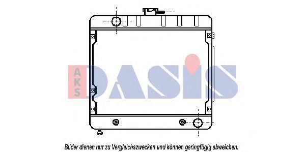 Радиатор, охлаждение двигателя AKS DASIS 122200N