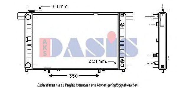Радиатор, охлаждение двигателя AKS DASIS 122520N