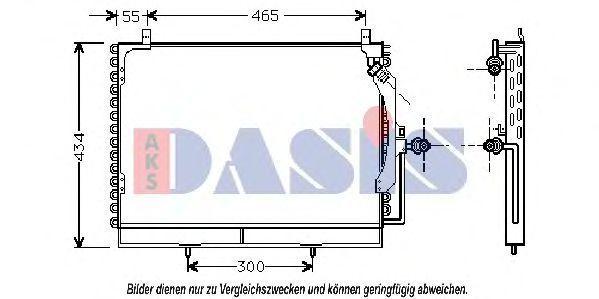 Конденсатор, кондиционер AKS DASIS 122910N