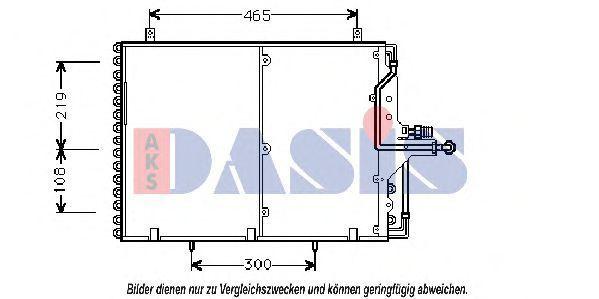 Конденсатор, кондиционер AKS DASIS 122950N