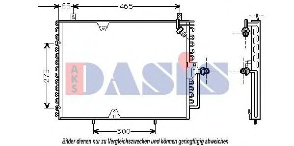 Конденсатор, кондиционер AKS DASIS 122960N