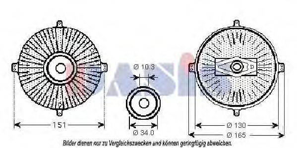 Сцепление, вентилятор радиатора AKS DASIS 128036N