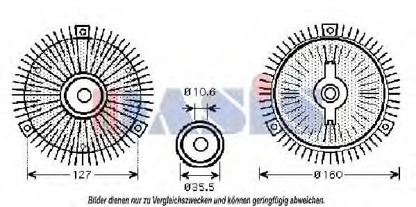 Сцепление, вентилятор радиатора AKS DASIS 128052N
