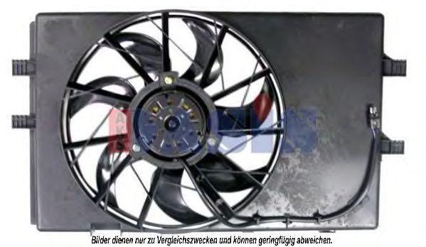 Вентилятор, охлаждение двигателя AKS DASIS 128053N