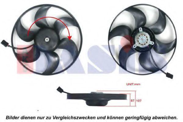 Вентилятор, охлаждение двигателя AKS DASIS 128087N