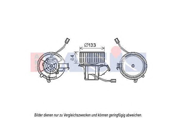 Вентилятор, охлаждение двигателя AKS DASIS 128138N