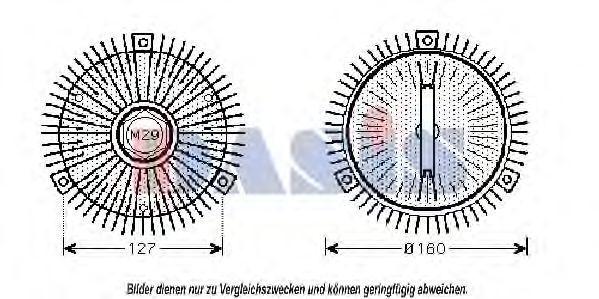 Сцепление, вентилятор радиатора AKS DASIS 128230N