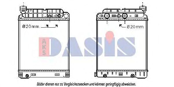 Радиатор, охлаждение двигателя AKS DASIS 130008T
