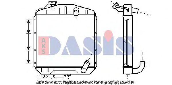 Радиатор, охлаждение двигателя AKS DASIS 130009N