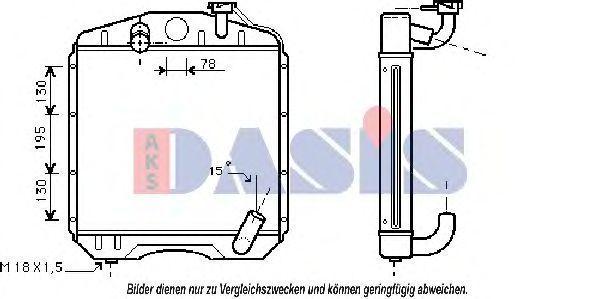 Радиатор, охлаждение двигателя AKS DASIS 130012N