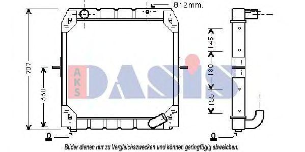 Радиатор, охлаждение двигателя AKS DASIS 130060N