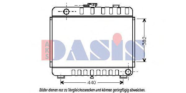 Радиатор, охлаждение двигателя AKS DASIS 130240N