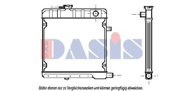 Радиатор, охлаждение двигателя AKS DASIS 130250N