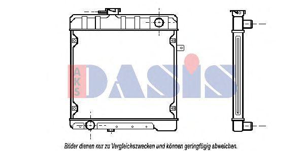 Радиатор, охлаждение двигателя AKS DASIS 130260N