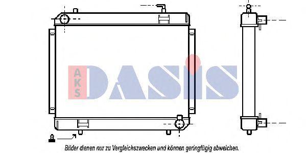 Радиатор, охлаждение двигателя AKS DASIS 130300N
