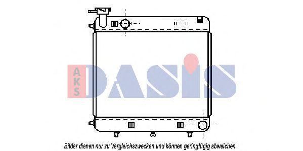 Радиатор, охлаждение двигателя AKS DASIS 130500N