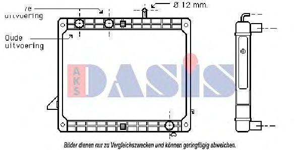Радиатор, охлаждение двигателя AKS DASIS 130540N