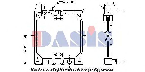 Радиатор, охлаждение двигателя AKS DASIS 130660N