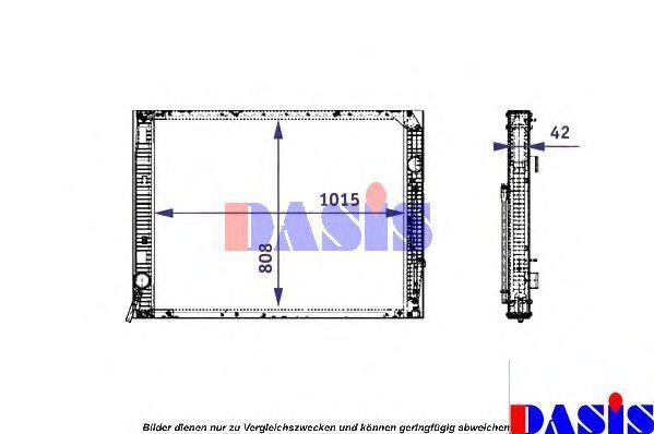 Радиатор, охлаждение двигателя AKS DASIS 131005N
