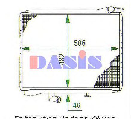 Радиатор, охлаждение двигателя AKS DASIS 131680T