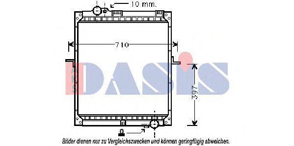 Радиатор, охлаждение двигателя AKS DASIS 132290N