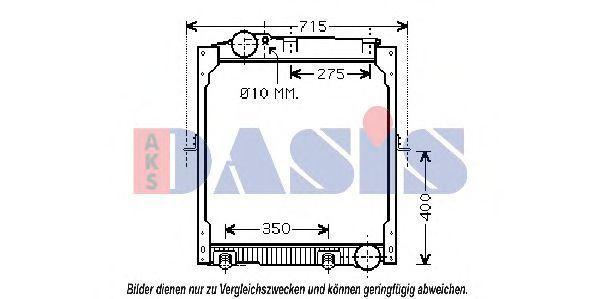 Радиатор, охлаждение двигателя AKS DASIS 132300N