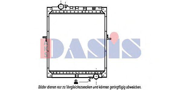 Радиатор, охлаждение двигателя AKS DASIS 134250N