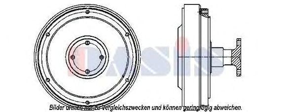 Сцепление, вентилятор радиатора AKS DASIS 138065N